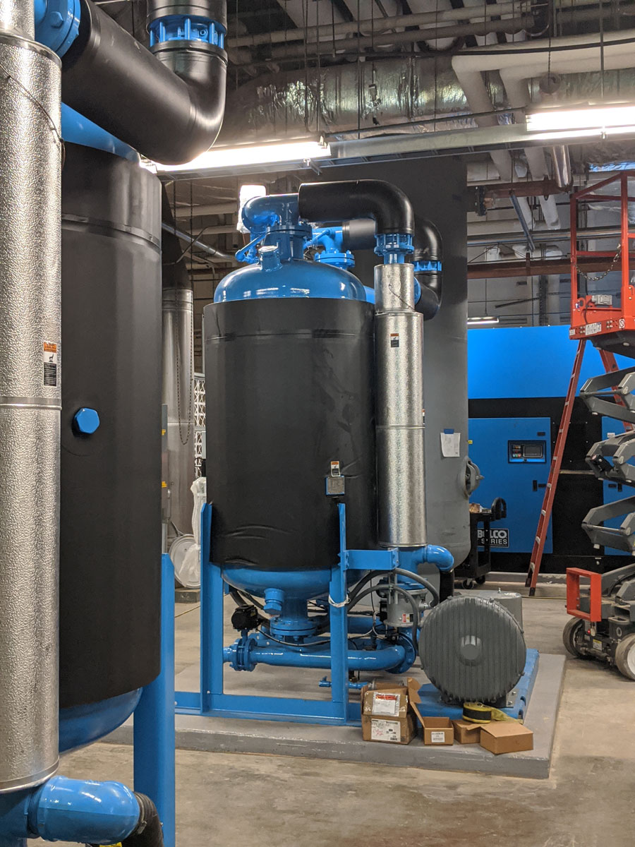 Compressor installation pharmaceutical